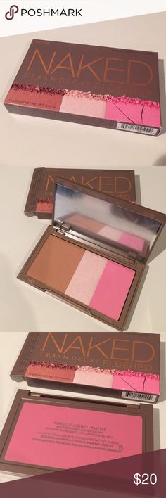 NEW Urban Decay Naked Flushed Palette New Urban Decay Naked Flushed Bronzer/Highlighter/Blush Palette (Native) Urban Decay Makeup Blush