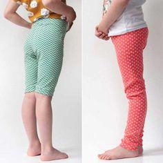 Střih a návod jak ušít dětské legínky nebo kraťasy Capri Pants, Pajama Pants, Pajamas, Fashion, Pjs, Moda, Capri Trousers, Sleep Pants, Fashion Styles