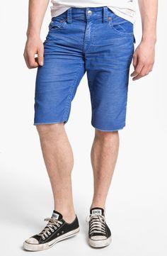 True Religion Ricky Cut Off Corduroy Shorts in Blue for Men (royal blue)   Lyst
