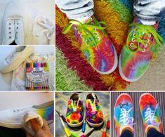 Tie Dye Sharpie Sneakers Tutorial