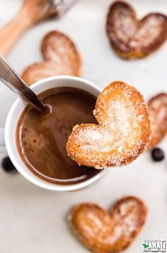 Flaky, buttery Palmiers are perfect little treats to enjoy with your coffee! Find the recipe on www.cookwithmanali.com