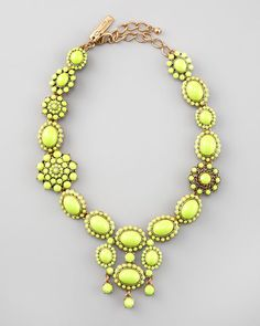 chartreuse statement necklace