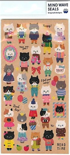 A personal favorite from my Etsy shop https://www.etsy.com/listing/279205718/cute-cats-japanese-stickers-planner
