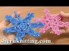 ▶ Easy to Crochet Snowflake Ornament Tutorial 3 Christmas Decoration - YouTube