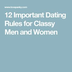 dating advice twelve rules