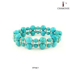 Chamonix Genuine Turquoise Bracelet - Assorted Styles at 90% Savings off Retail!