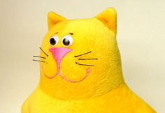 Yellow Plush Cat Plush Toy Stuffed AnimalCat Toy for by ZooToys, $18.00