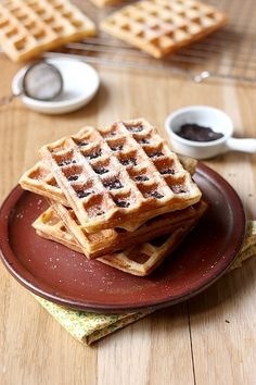 Cider waffles