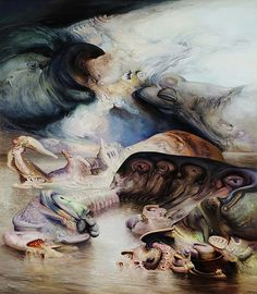James Gleeson  Landfall 1983  oil on canvas  signed and dated l.r.; inscribed verso  196.5 x 171  cm