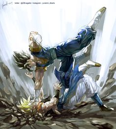 Vegetto VS Gogeta by GoddessMechanic2 on DeviantArt - Unfortunately Vegito would win this, but I still like both the fusions.