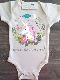 Unicorns Are Real, Baby, Boy, Girl, Unisex, Gender Neutral, Infant, Toddler, Newborn, Organic, Bodysuit, Outfit, One Piece, Onesie®, Onsie®, Tee, Layette, Onezie®