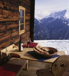 Hut romantic in alpine holidays in Tyrol - self-catering hut .- Hüttenromantik im Almurlaub in Tirol – Selbstversorgerhütte in Tirol Hut romantic in alpine holidays in Tyrol – self-catering hut in Tyrol - Chalet Design, Build A Closet, Visualisation, H & M Home, Le Havre, Cabin Homes, Great View, Wonderful Places, Outdoor Living