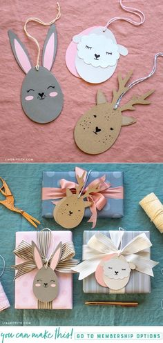 Papercut Easter Egg Animal Gift Tags and Gift Wrap - Lia Griffith While we designed this gift wrap idea for Easter, it would also be perfect to use for a baby shower gift or a kid's birthday. And if you want to personalize it Baby Gift Wrapping, Birthday Gift Wrapping, Creative Gift Wrapping, Gift Wrapping Ideas For Birthdays, Baby Shower Wrapping, Birthday Gifts For Kids, Easter Eggs Kids, Easter Art, Regalo Baby Shower