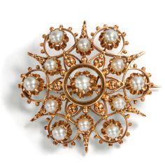 Diamantbrosche Edelsteine Goldbrosche Mit Rubin Safir Saphir Smaragd 750 Gold Novel Design; In