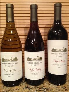 Robert Mondavi Napa Valley Wines to chill after a week of searching or to open to celebrate receiving a job offer.