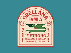 Vintage Graphic Design Orellana Family Patch by Damian Orellana - On the last Saturday night of 2018 I decided to stay in and work on a family patch. I cant wait to see these embroidered :) Vintage Graphic Design, Graphic Design Posters, Graphic Design Typography, Brand Identity Design, Branding Design, Brochure Design, Badges, Vintage Packaging, Patch Design