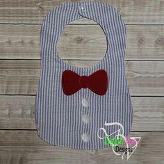 Bow Tie Bib ITH Embroidery Design