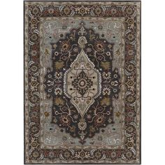 Found it at Wayfair - Bajrang Grey Area Rug