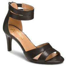 Women's A2 by Aerosoles Proclamation Cross Strap Heeled Sandals - Black 10.5