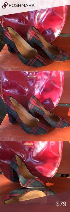 J.Crew tartan heels J.Crew tartan heels J. Crew Shoes Heels