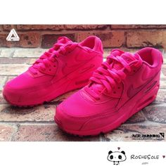 Nike Air Max 90 Womens Shoes All Pink Red
