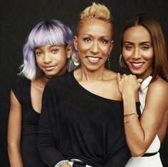 Jada Pinkett-Smith, her mother, Adrienne Banfield-Jones and daughter Willow Smith