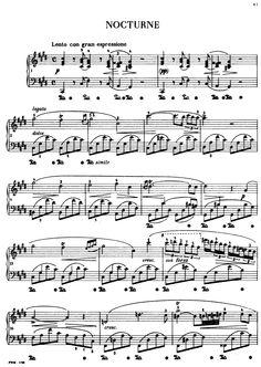 nocturne in b flat minor sheet music pdf