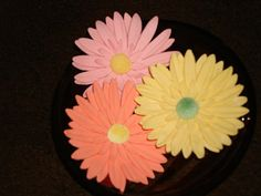 Gumpaste Gerbera Daisies by GumpasteGarden on Etsy