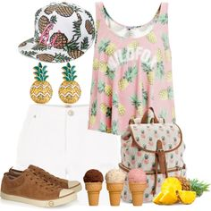 Pineapple by annetkor on Polyvore featuring мода, Wildfox, River Island, UGG Australia, Candie's, MBLife.com and Charlotte Russe