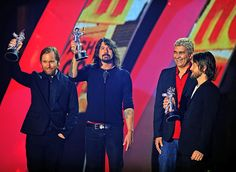 In its third decade as a group, Best Rock Video winners Foo Fighters assure the crowd that rock is out there, you just have to look a little bit harder at the 2011 MTV Video Music Awards in Los Angeles. | MTV Photo Gallery