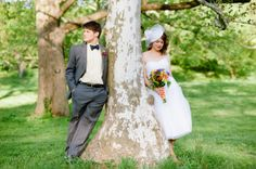 Adorable photo from a fun and colorful elopement by Kelly Lorenz Imagery | via junebugweddings.com