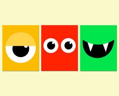 Set of Three Monster Themed Kids Wall Prints, Available Now!