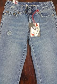 AB Jeans Distressed Size 5 NWT Style ab-953p #ABJeans #BootCut #Everyday
