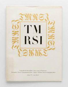 TM Typographische Monatsblätter, issue 1, 1950