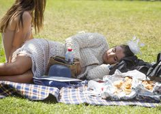 The final day of partying at the Melbourne Cup carnival proved to be too much for many racegoers, pictured is one woman who was seen snoozing on the grass next to a half eaten try of pastries Melbourne Cup, Stakes Day, Final Days, Pastries, Finals, Picnic Blanket, Grass, Carnival, Woman