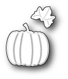 MEMORY BOX: Plump Pumpkin Craft Die This package contains Plump Pumpkin Craft Die: two image dies. Approximate measurements: 1 x 1 inches pumpkin, 0.5 x 0.5 inch leaf