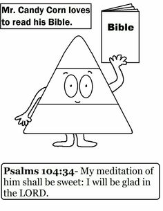 Candy Corn Coloring Page For Sunday School