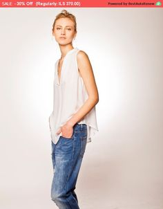 30% Sale Baggy Shirt White Oversized Shirt White by BRANTattire Loose Shirts, Loose Tops, Casual Tops, Casual Shirts, Baggy Tops, Oversized Blouse, White Outfits, V Neck Tops, White Tops