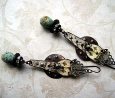I Think I Am In Love eco friendly earrings by Anvil Artifacts