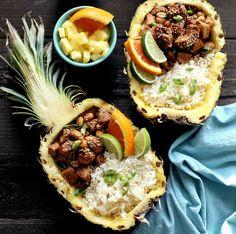 Pineapple Chicken Teriyaki Bowls #recipe via The Whisking Kitchen http://www.yummly.com/recipe/Pineapple-Chicken-Teriyaki-Bowls-1685168