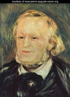 Portrait of Richard Wagner - Pierre Auguste Renoir