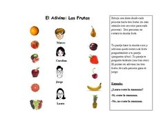 Spanish Speaking Activity with Fruit Vocabulary (Info Gap)
