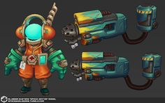 Here's some more progress on the model side ~ Space Janitor!Don't you wanna cauterize wounds like a pro?