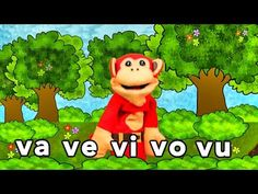 Sílabas va ve vi vo vu - El Mono Sílabo - Videos Infantiles - Educación para Niños # - YouTube