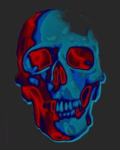 Digital Art - Bite Me by Mimulux patricia No , Vaporwave, Voodoo, Crane, Skull Artwork, Skull Island, Danse Macabre, Human Skull, Skull And Bones, Memento Mori