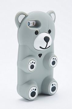 Coque pour iPhone 5 grise motif ours - Urban Outfitters