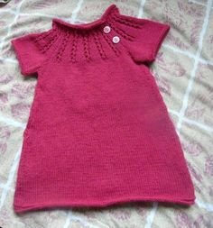 patron tricot robe fille