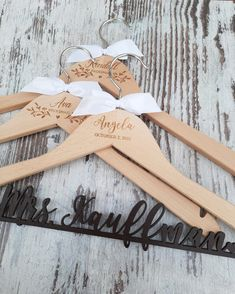 ⭐⭐⭐⭐⭐ 'Absolutely Beautiful! The hangers were exactly what I was wanting and hoping for, truly couldn't be happier!' • • • • • #bridesmaidhangers #personalizedhangers #bridesmaidgift #bridalshowergift #bridalpartygifts #bridesmaids #bridalshower #bridalparty #giftideas #bridesmaidideas #bridesmaidgiftideas #bridesmaids #bridesmaidduty #personalizedgift #customhanger #bridesquad #weddinggifts #bridalpartysquad #bridesmaidinspiration #bridesmaidhanger #personalizedhanger #handmadegifts Bridesmaid Hangers, Bridesmaid Duties, Wedding Hangers, Bridesmaid Gifts, Bridesmaids, Personalized Hangers, Personalized Wedding, Wedding Gifts, Wedding Day