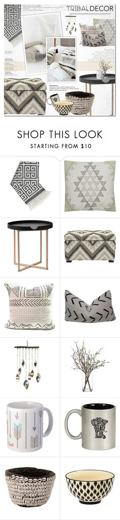 """Tribal mood"" by dian-lado ❤ liked on Polyvore featuring interior, interiors, interior design, home, home decor, interior decorating, Jonathan Adler, .wireworks, Safavieh and WALL"