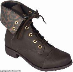 Cuturno Feminino Vivaice  Com pegada militar traduzida para look's feminino,s o coturno é um estilo de bota que vem ganhando espaço no closet feminino! #bota #vivaice #inverno #moda #supimpacalcados #supimpaONline